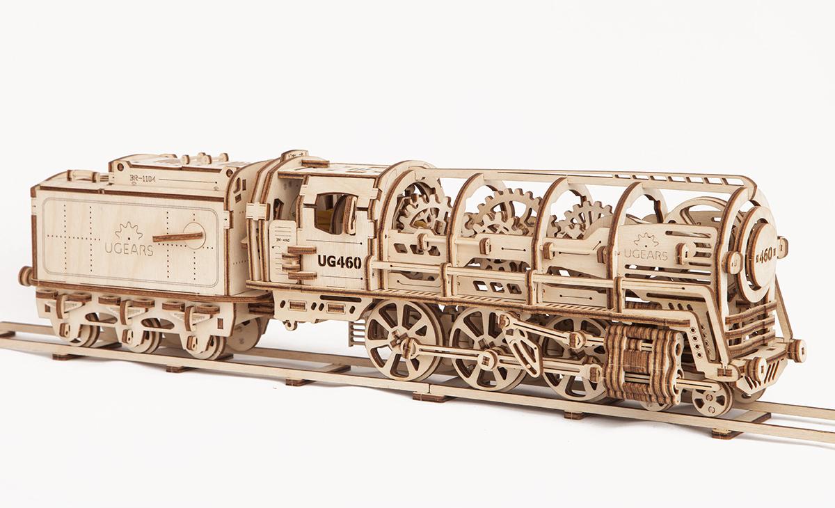 UGEARS Model «460 STEAM LOCOMOTIVE WITH TENDER»