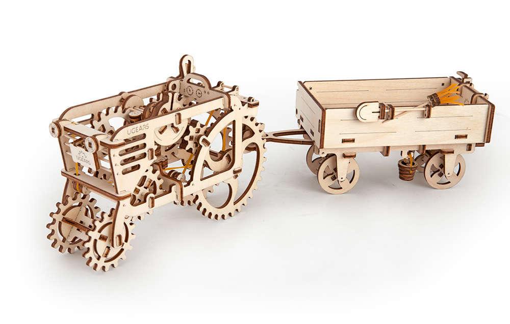 Set «TRACTOR+TRAILER» - UGEARS - Unique Wooden Mechanical Models