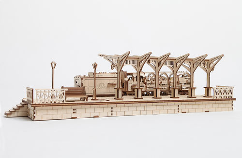 UGEARS Model «RAILWAY PLATFORM»