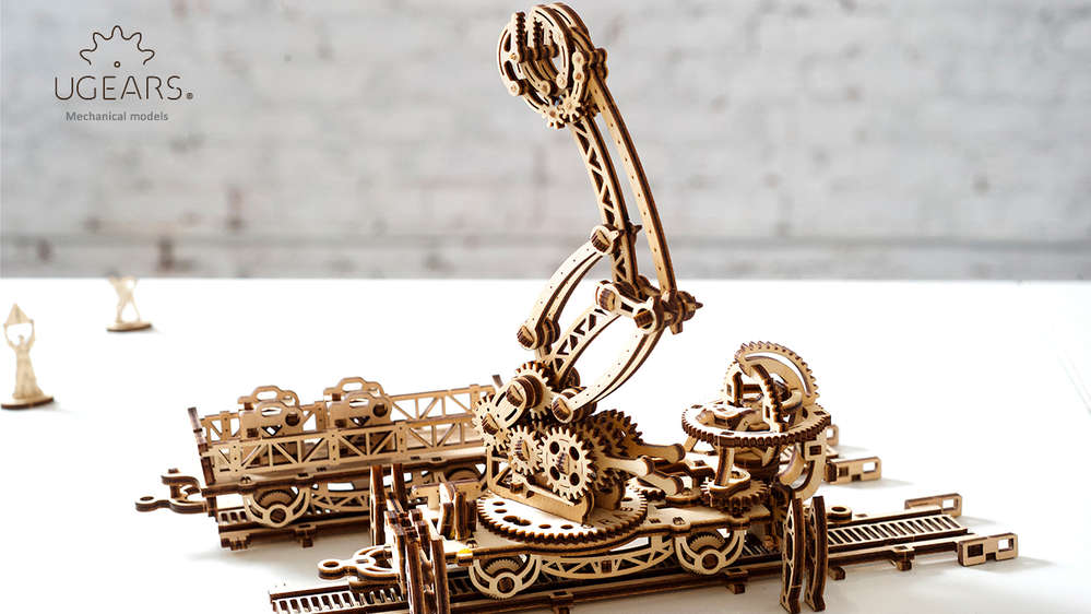 Rail Mounted Manipulator  Mechanical Town Series - UGEARS