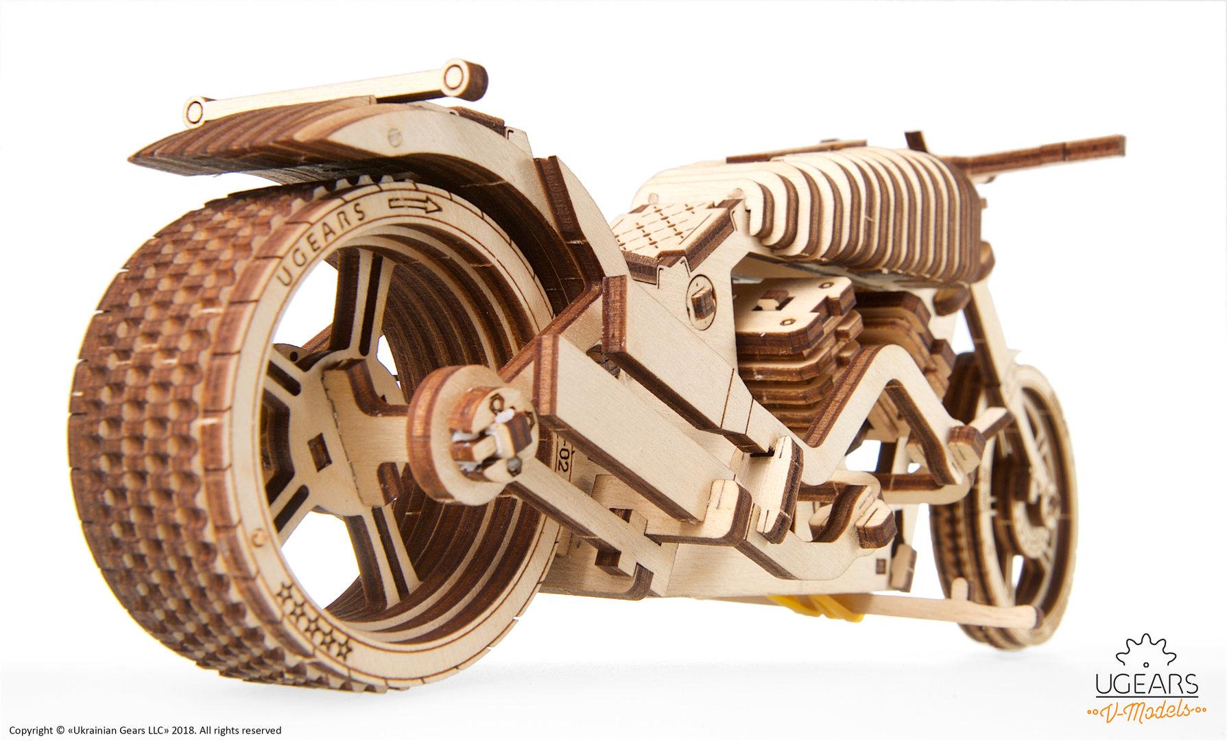 UGEARS Bike VM-02 - UGEARS - Unique Wooden Mechanical Models