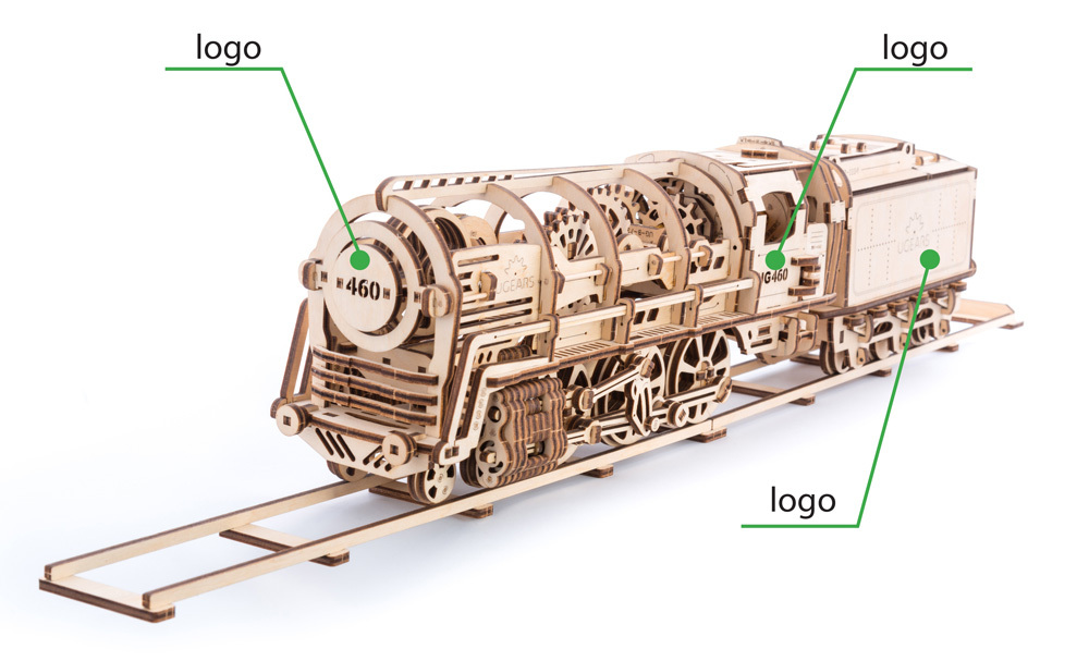 8-ugears-steam-locomotive-with-tender-branding-option